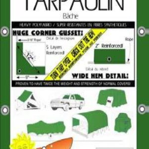 Green/White Heavy Duty Tarps